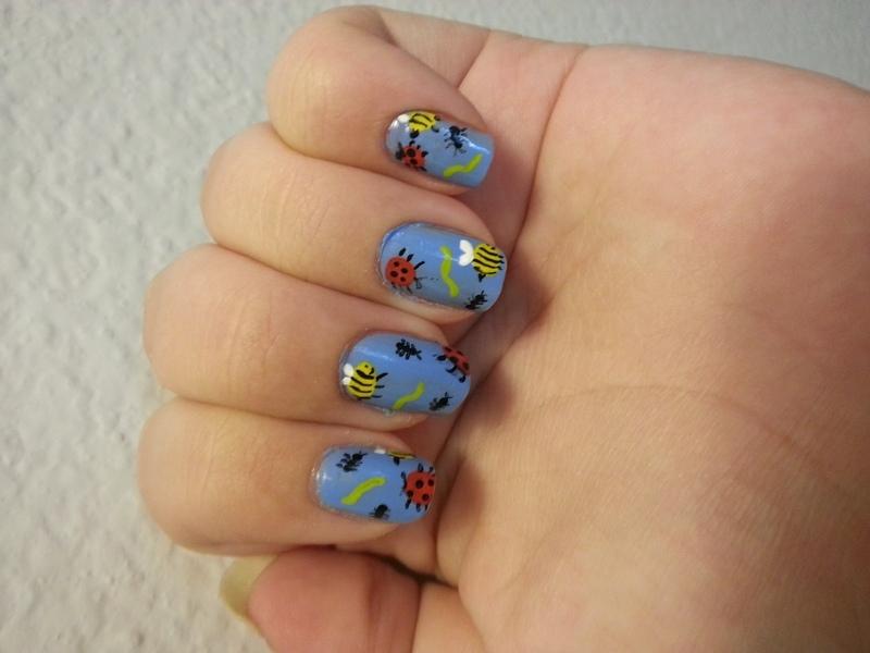 Bugs nail art by KiboSanti