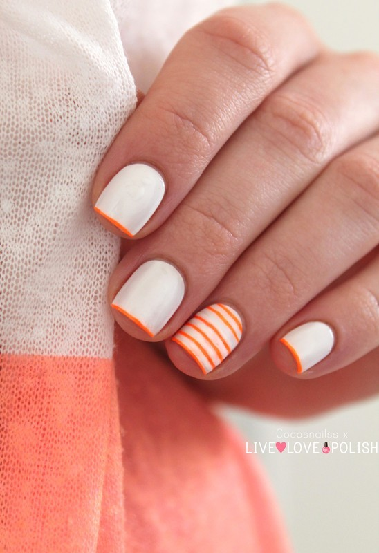Neon stripes nail art by Cocosnailss - Nailpolis: Museum ...