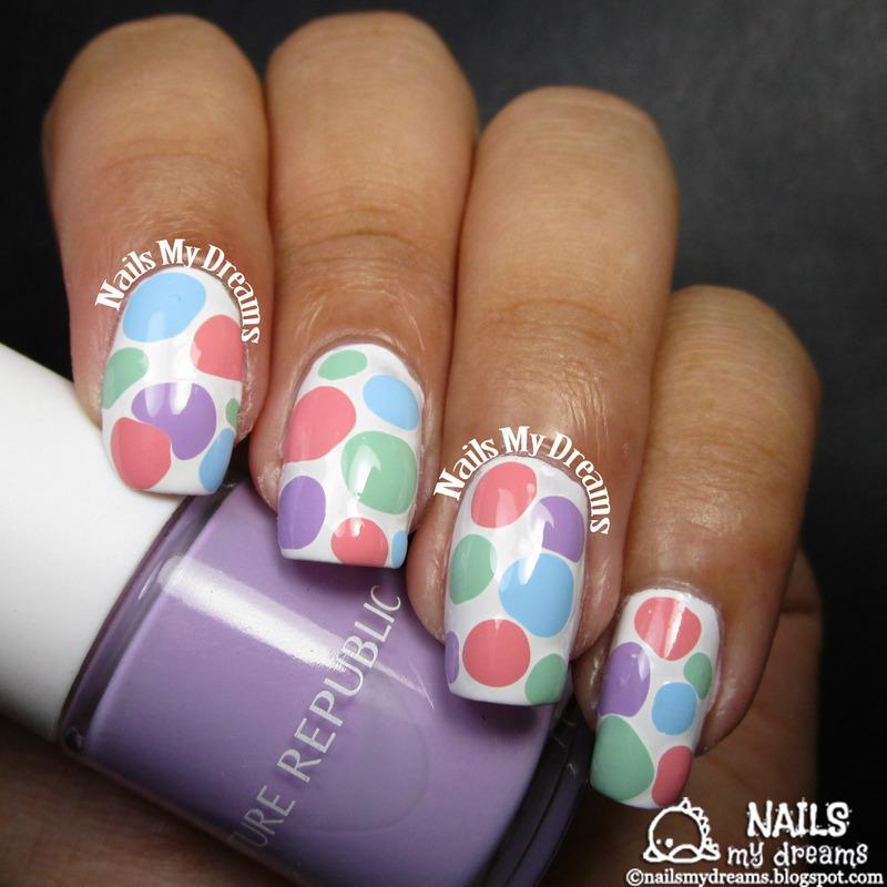 Spring Blobicure nail art by Kat of NailsMyDreams