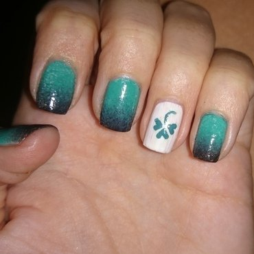 Luck of the Irish nail art by Nadia Joubert