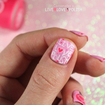 Live Love Polish nail art nail art by Cocosnailss