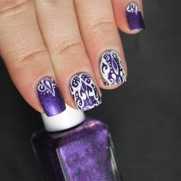 Purple nail art by Cocosnailss