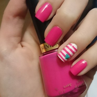 Pretty in Pink nail art by Nadia Joubert
