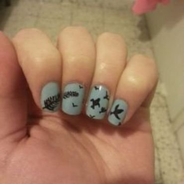 Freedom nail art by Maya Harran