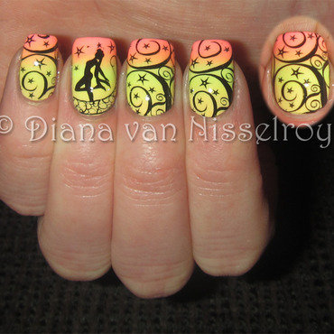 Sailor moon nail art by Diana van Nisselroy