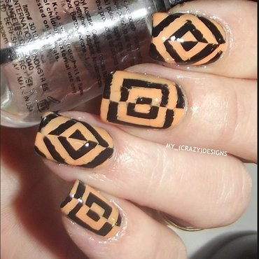 Design with stencils nail art by Mycrazydesigns