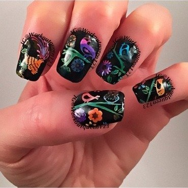 Birds nail art by Workoutqueen123