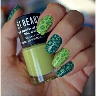 Double green! nail art by Cranberry Fairy