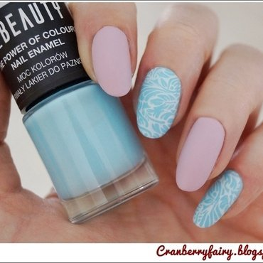 In love with pastel colors... nail art by Cranberry Fairy