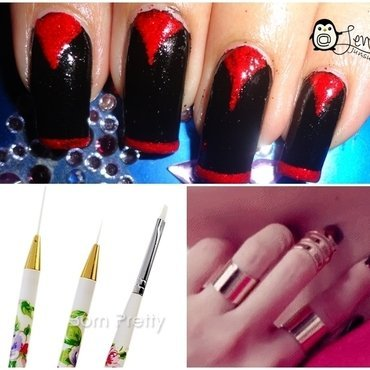 Black and Red Vampire Nails nail art by Leneha Junsu