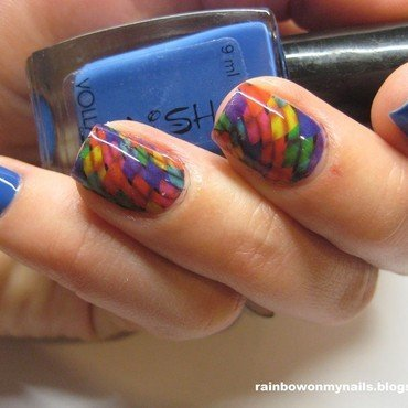 Colorfull Sticker nail art by specialle