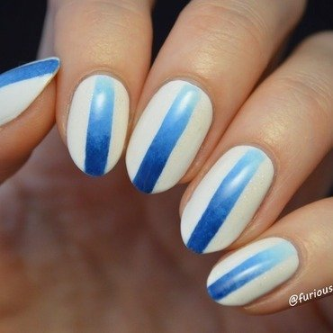 Gradient stripes nail art by Furious Filer