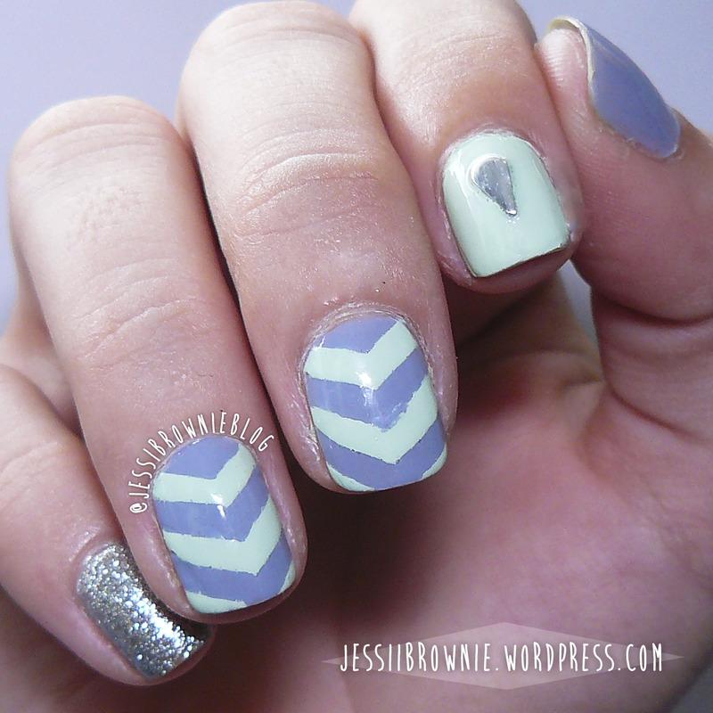 WNAC - Pastel - Chevron nail art by Jessi Brownie (Jessi)