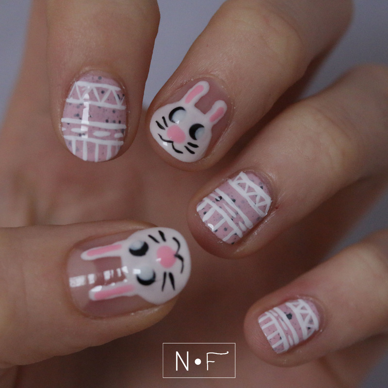 Easter bunny nail art by NerdyFleurty
