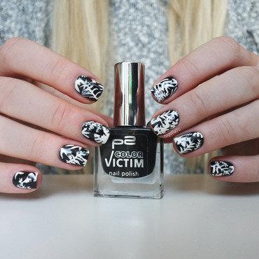 Topshop inspired Palmleaves Nailart nail art by nagelfuchs