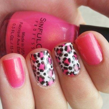 Leopard Print nail art by Olivia D.