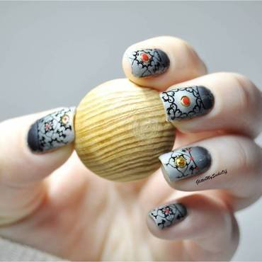 Authentic chic nail art by GlitterMySocksOff