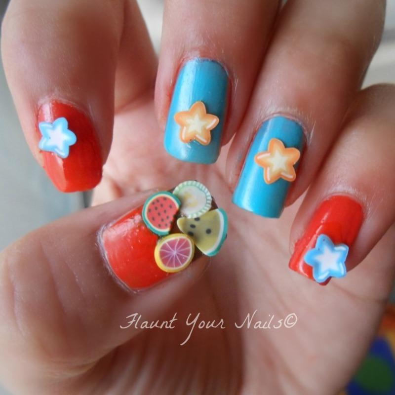 Hello Summer! nail art by Vidula Kulkarni
