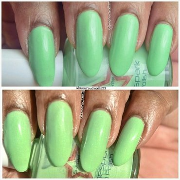 Shinespark Polish Green Apple Swatch by glamorousnails23