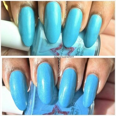 Shinespark Polish Ocean Swatch by glamorousnails23