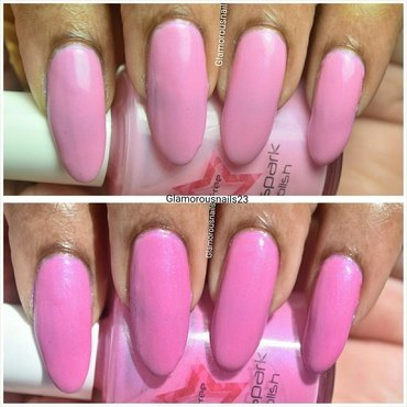Shinespark Polish Flamingo Swatch by glamorousnails23