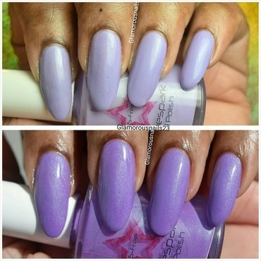 Shinespark Polish Periwinkle Swatch by glamorousnails23