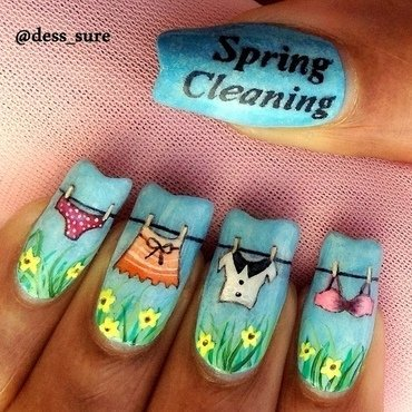 Spring Cleaning nail art by Dess_sure