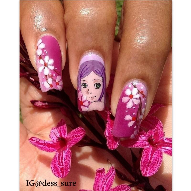 Manga Mani nail art by Dess_sure