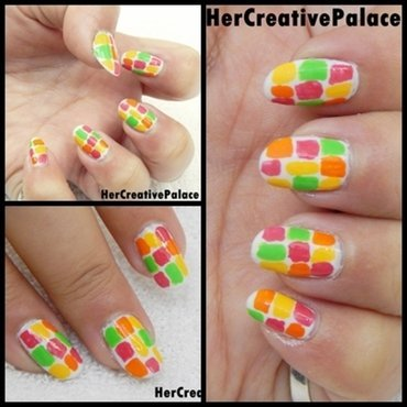 color splash nail art nail art by HerCreativePalace (kanika)