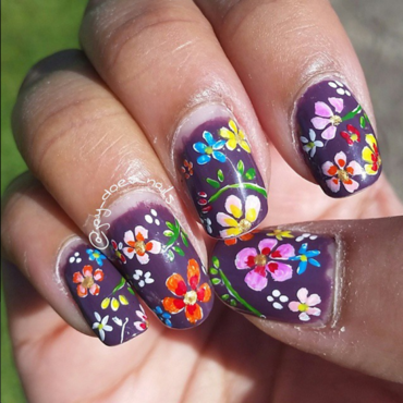 Summer Explosion nail art by Jaya Kerai