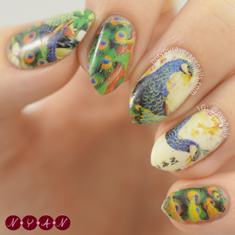 Birds of a Feather nail art by Becca (nyanails)