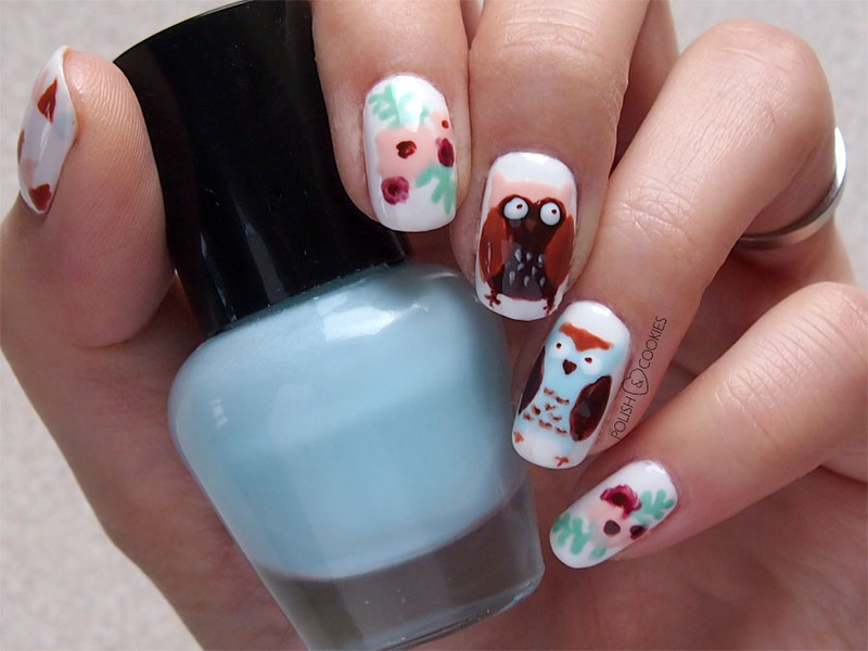 Ho-ho-hoo-hoo! nail art by PolishCookie