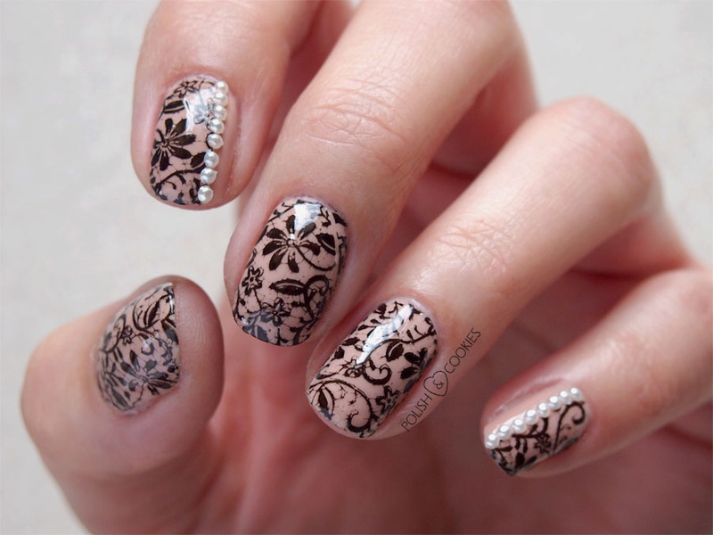 Delicate lace nail art by PolishCookie