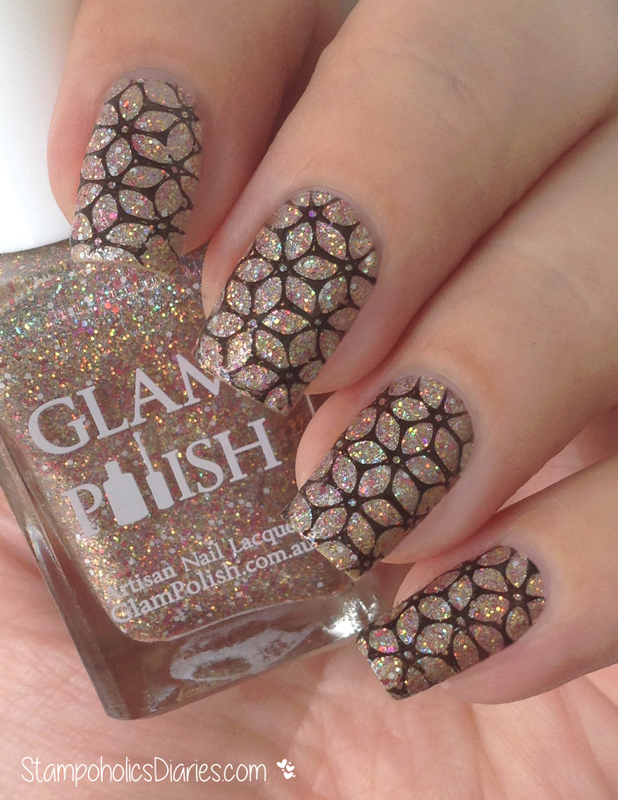 Glitter Nails with Glam Polish nail art by Natasha
