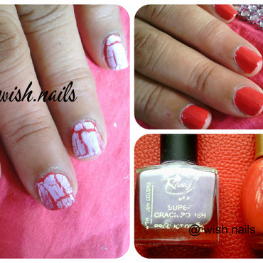 Crackle Nail  nail art by Wish Mrt'xa
