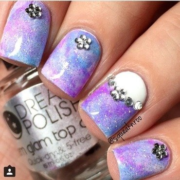 Sponging  nail art by Squeaknroo