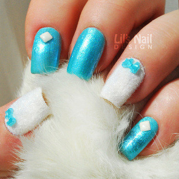 Fluffy Bluey nail art by Lily-Jane Verezen