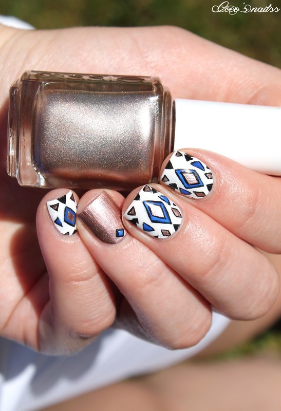 Geometric/Ethnic nail art by Cocosnailss