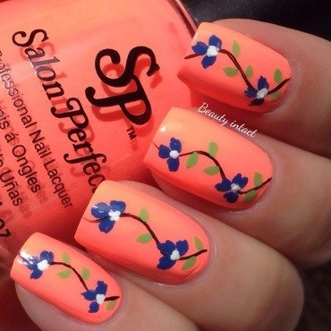 Flamingo Flair nail art by Beauty Intact