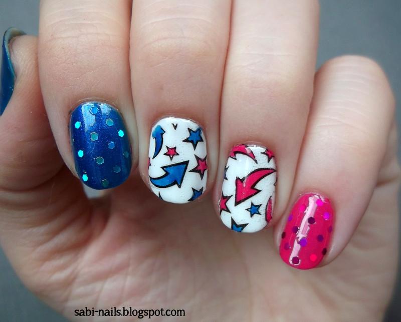 Stamping nail art by Sabina