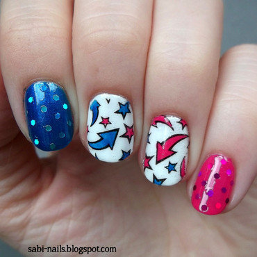 Stamping nail art by Sabina