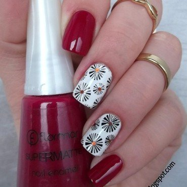 Red flormar nail art by Sabina