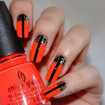 Fashion & neon nail art by Love Nails Etc