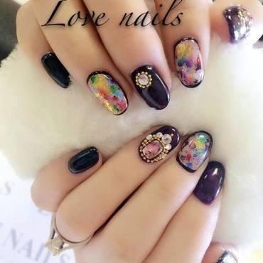 Carnival nail art by Ava Liu
