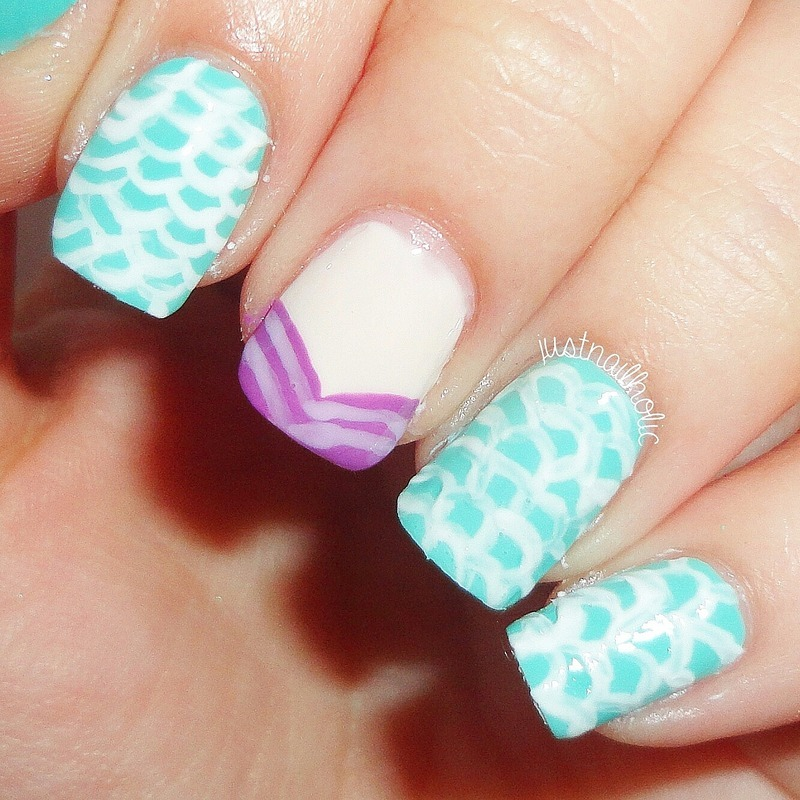 The Little Mermaid nail art by Melany Antelo