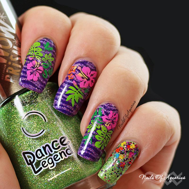 Jungle Love nail art by Karolyn