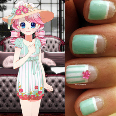 Tea Dress nail art by kitalovessm