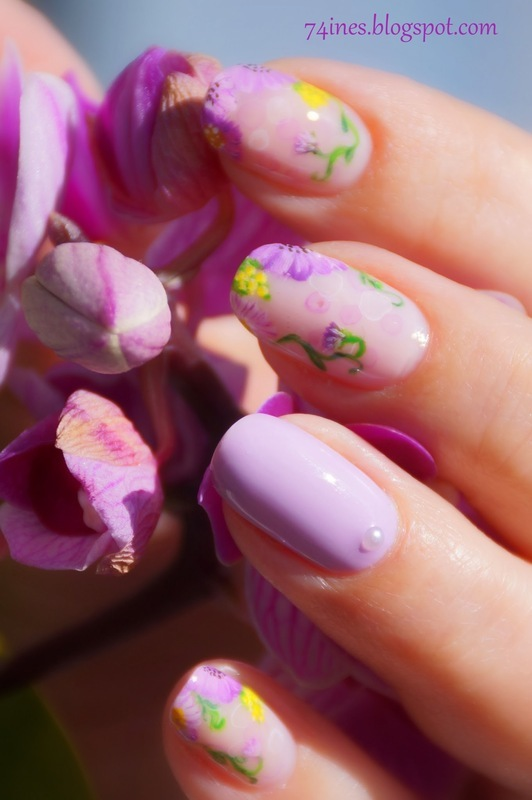 Sweet Child O'Mine  nail art by 74ines
