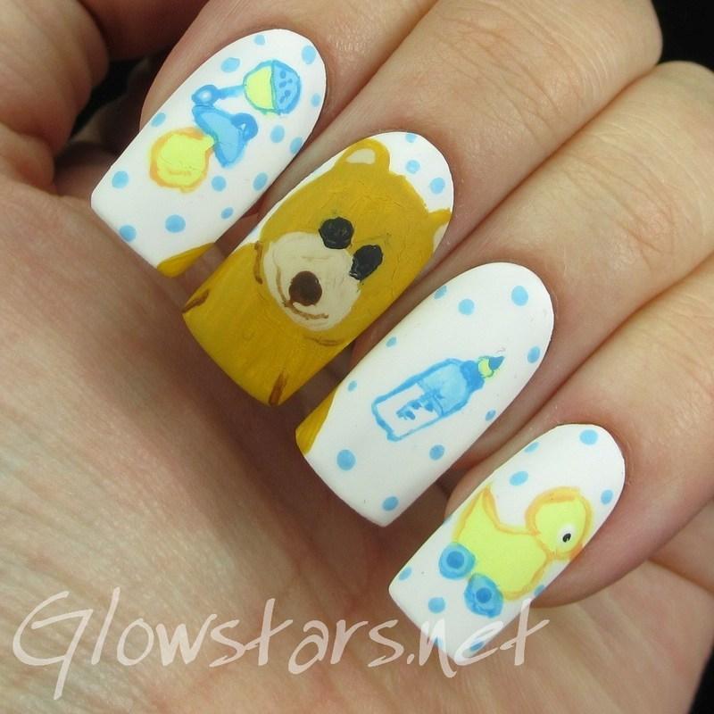 The Digit-al Dozen does Childhood: Nursery nail art by Vic 'Glowstars' Pires