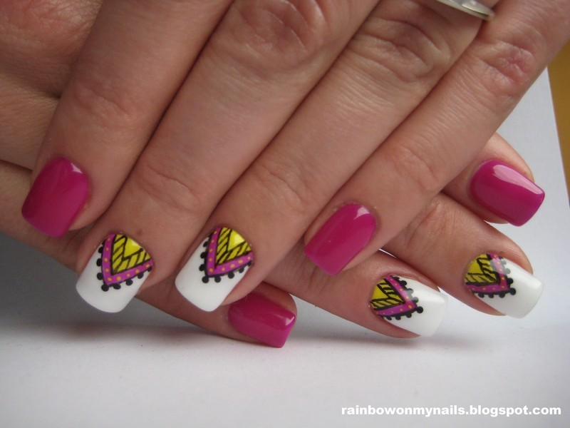 Aztec nail art by specialle - Aztec Nail Art By Specialle - Nailpolis: Museum Of Nail Art
